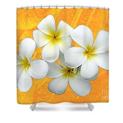 Tropical Frangrapani II Shower Curtain