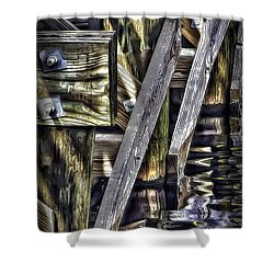 Under The Boardwalk Shower Curtain by Walt Foegelle