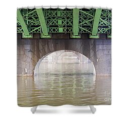 Under The Bridge Shower Curtain by Michal Boubin