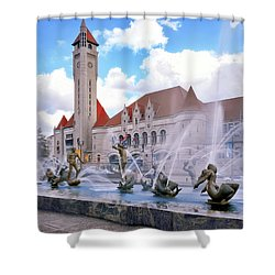 Union Station - St Louis Shower Curtain by Harold Rau