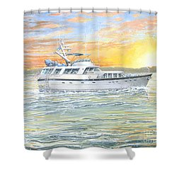 Shower Curtain featuring the painting Untitled by Bob George