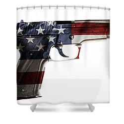 Usa Gun  Shower Curtain