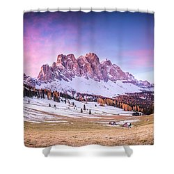 Val Di Funes, Italy Shower Curtain