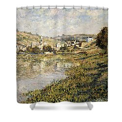 Vetheuil Shower Curtain by Claude Monet