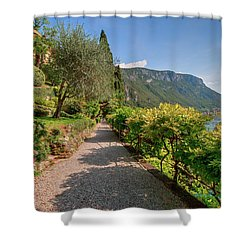 Shower Curtain featuring the photograph Villa Cipressi Gardens by Brenda Jacobs