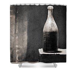 Vintage Beer Bottle Shower Curtain by Andrey  Godyaykin