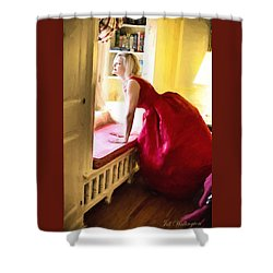 Vintage Val Home For The Holidays Shower Curtain