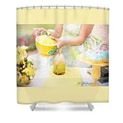 Vintage Val Iced Tea Time Shower Curtain