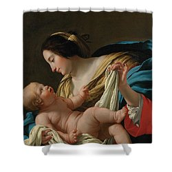 Virgin And Child Shower Curtain