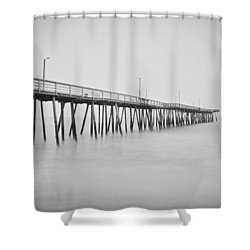 Virginia Beach Fishing Pier  Shower Curtain by Scott Meyer