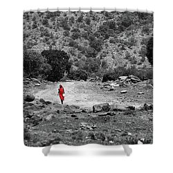 Shower Curtain featuring the photograph Walk  by Charuhas Images