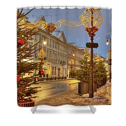 Shower Curtain featuring the photograph Warsaw, Poland by Juli Scalzi