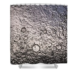 Water Abstraction - Liquid Metal Shower Curtain