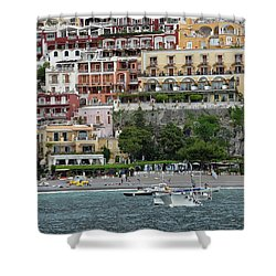 Water Taxi From Amalfi To Positano Shower Curtain