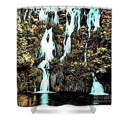 Waterfall Painting Shower Curtain