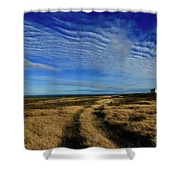 Waves Shower Curtain by Craig Wood