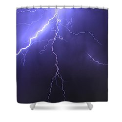West Jordan Lightning 4 Shower Curtain