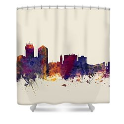Wichita Kansas Skyline Shower Curtain