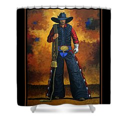 Shower Curtain featuring the painting Wild West Days Poster/print  by Lance Headlee
