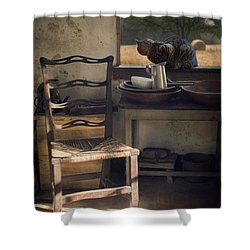 Shower Curtain featuring the photograph Window Seat by Robin-Lee Vieira