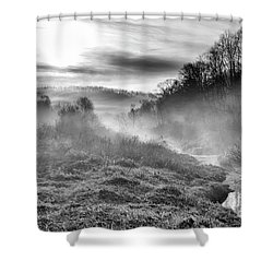 Shower Curtain featuring the photograph Winter Mist by Thomas R Fletcher