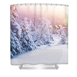 Winter Resort Shower Curtain