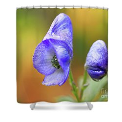 Shower Curtain featuring the photograph Wolf's Bane Flower by Nick Biemans