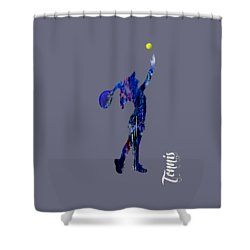 Womens Tennis Collection Shower Curtain