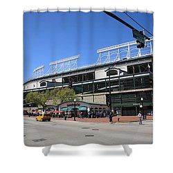 Wrigley Field - Chicago Cubs Shower Curtain by Frank Romeo
