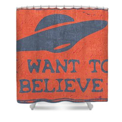 X Files I Want To Believe Shower Curtain