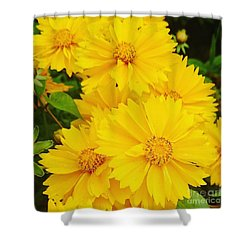 Yellow Flowers  Shower Curtain by Sobajan Tellfortunes