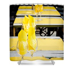 Shower Curtain featuring the photograph Yellow by Jason Smith