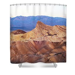 Shower Curtain featuring the photograph Zabriskie Point by Catherine Lau