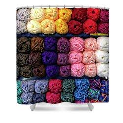 Balls Of Wool Shower Curtain by Tom Gowanlock