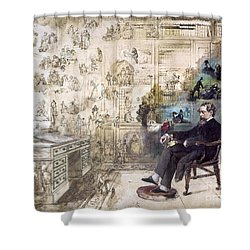 Charles Dickens 1812-1870.  To License For Professional Use Visit Granger.com Shower Curtain