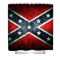 Shower Curtain featuring the photograph Confederate Flag by Les Cunliffe