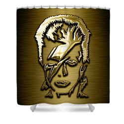 David Bowie Collection Shower Curtain by Marvin Blaine