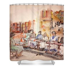 Of Clogs And Windmills Album Shower Curtain by Debbi Saccomanno Chan