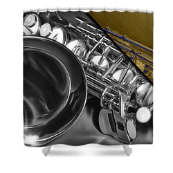 Saxophone Collection Shower Curtain by Marvin Blaine