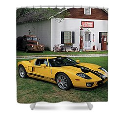 Shower Curtain featuring the photograph 2005 Ford Gt by Christopher McKenzie