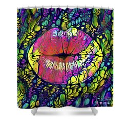 Kissing Lips Shower Curtain