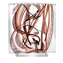 2010 Abstract Drawing Five Shower Curtain