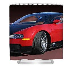 2010 Bugatti Veyron E. B. Sixteen Shower Curtain