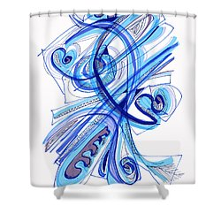 2010 Drawing Four Shower Curtain