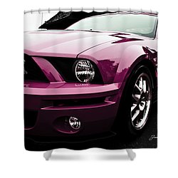 Shower Curtain featuring the photograph 2010 Pink Ford Cobra Mustang Gt 500 by Joann Copeland-Paul