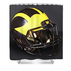 2010s Wolverine Helmet Shower Curtain