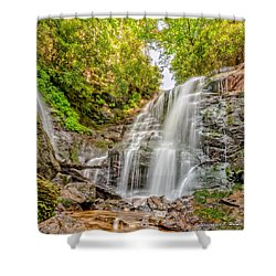 Shower Curtain featuring the photograph Rocky Falls by Christopher Holmes