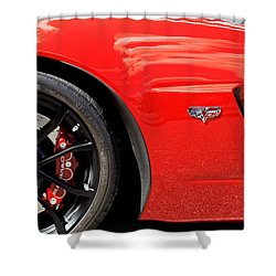 2013 Corvette Shower Curtain by Rich Franco