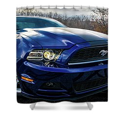 2014 Ford Mustang Shower Curtain by Randy Scherkenbach