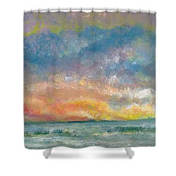 2014 Seascape Shower Curtain